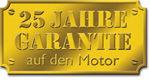 25 Jahre Herstellergarantie auf den Motor